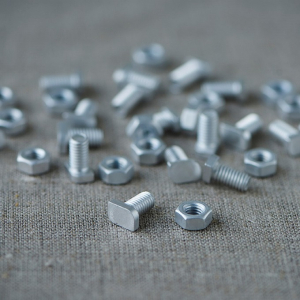 Cropped Head nuts and bolts